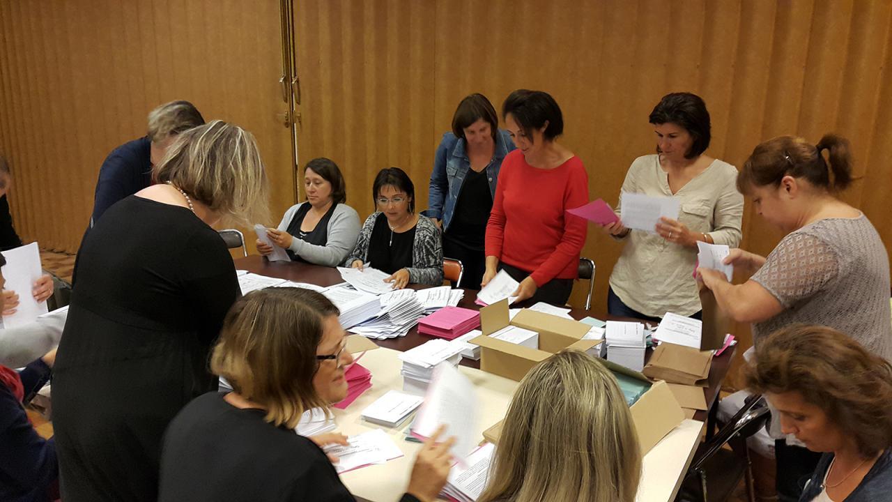 Mise sous plis Elections des P.E du collège - Sept 2015