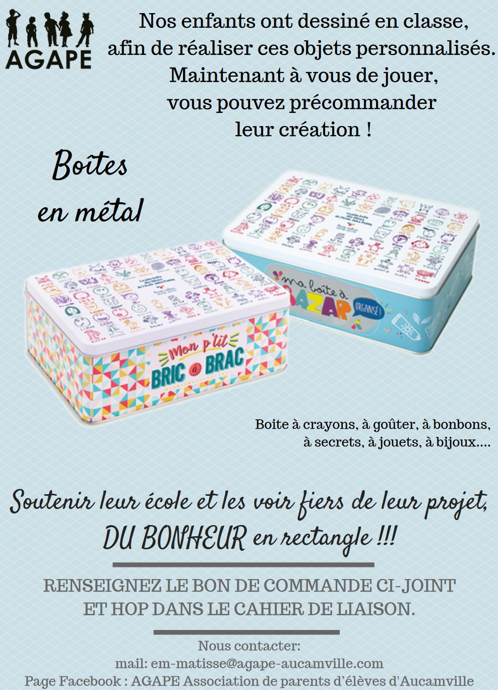Flyer boites metal